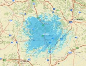 Empfangsgebiet Ingolstadt